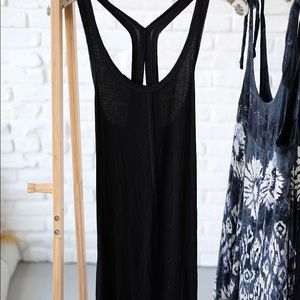 Free people tank slip black size S good condition